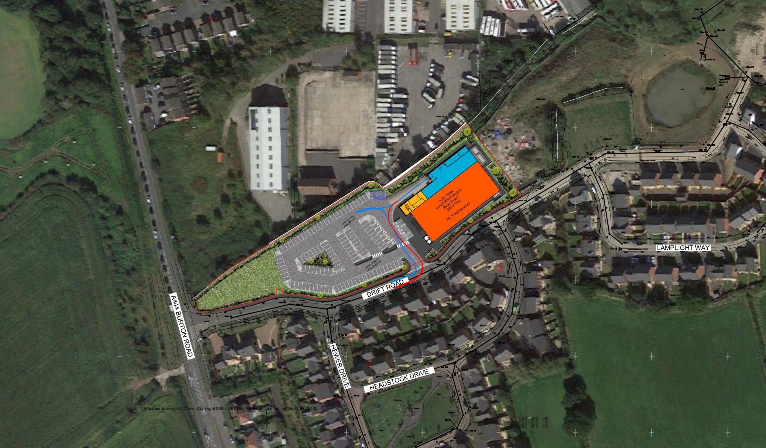Castle Gresley Site Plan